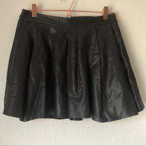 Thakoon Addition 100% Lambskin Leather Mini Skirt